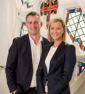 Picture of Melbourne gastroenterologist Dr Nathan Connelly and registered nurse Nicole Starbuck-Connelly